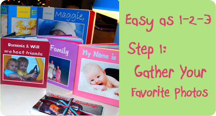 Easy as 1-2-3, Step 1: Gather your favorite photos