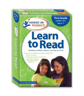 Hooked-on-Phonics-Learn-to-Read-First-Grade-Levels-1-2-Quick-Start-Guide-Stickers-Workbook-DVD-and-Paperback-0